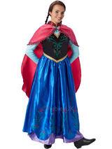 View Item Frozen Anna Princess Ladies Cosplay Costume Outfit Fancy Dress & Cape Halloween