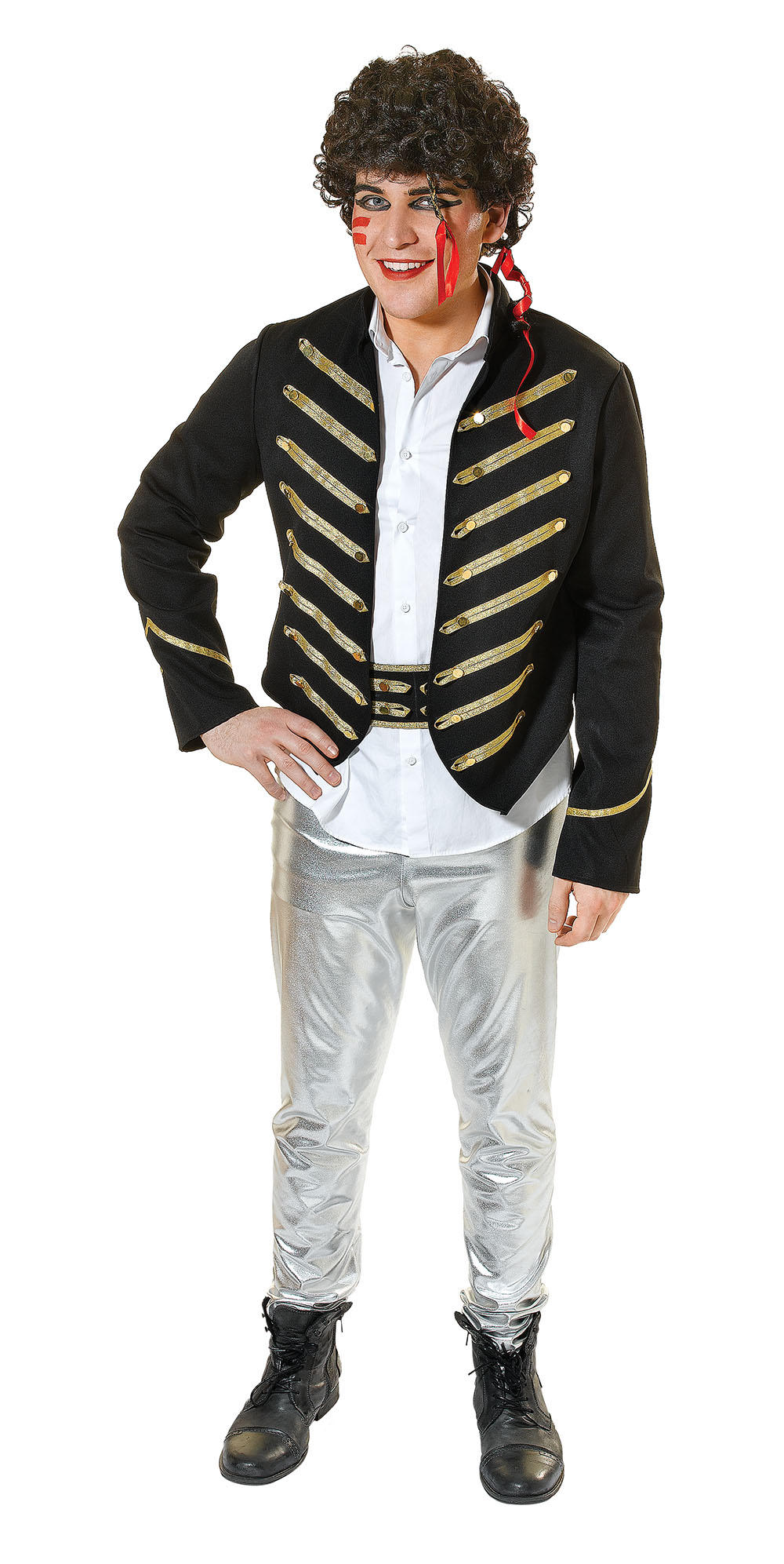 adam ant 1980 s new mens fancy dress costume