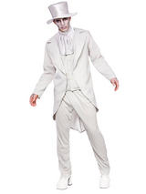 View Item Mens Zombie Ghastly Ghost Groom Wedding Suit Fancy Dress Costume Black Outfit