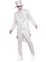 View Item Mens Zombie Ghastly Ghost Groom Wedding Suit Fancy Dress Costume Black Outfit