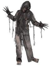 View Item Burning Walking Dead Zombie New Fancy Dress Scary Adult Mens Halloween Costume