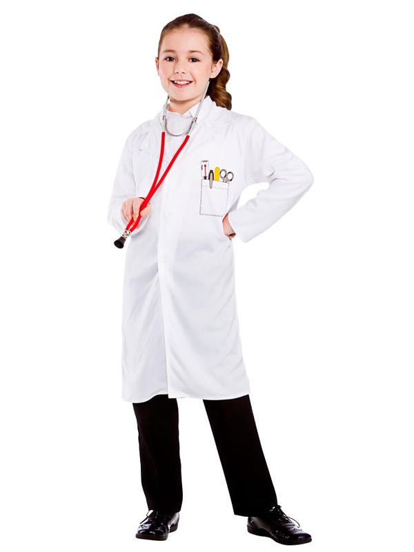 Kids White Lab Coat Doctors Science Dr Warehouse Boys Girls ...