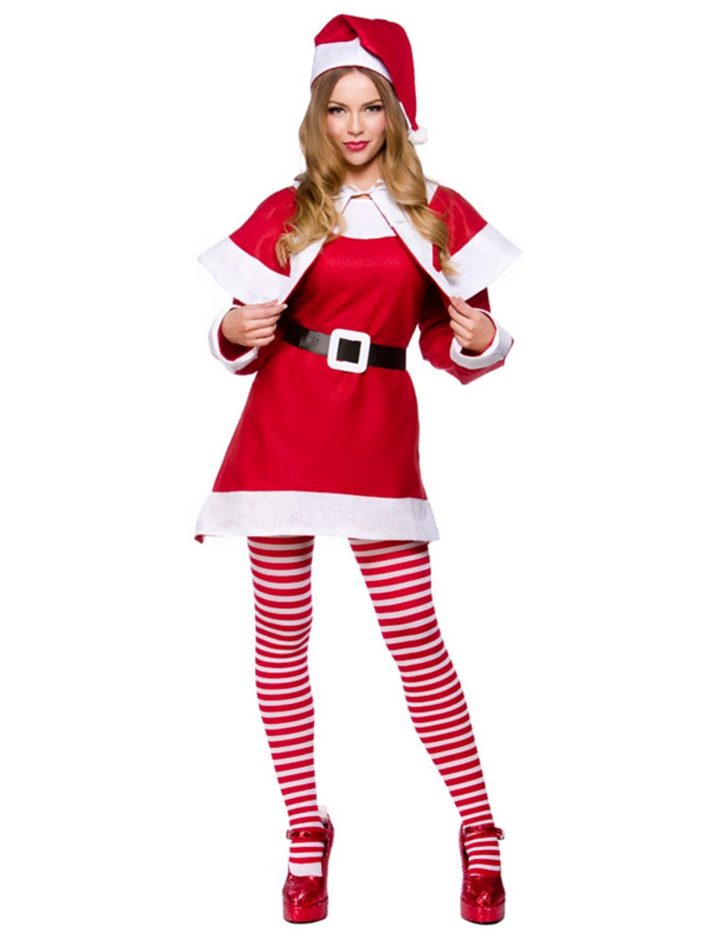 Item details adult xmas budget mrs santa claus suit new fancy dress