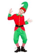 Childrens Workshop Elf Christmas Santas Helper Boys Girls Fancy Dress Costume