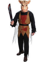 View Item Mens Pig Butcher Horror Saw Halloween New Fancy Dress Costume Adult Outfit