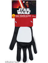 View Item Child Official Star Wars Force Awakens Flametrooper Gloves Fancy Dress Accessory