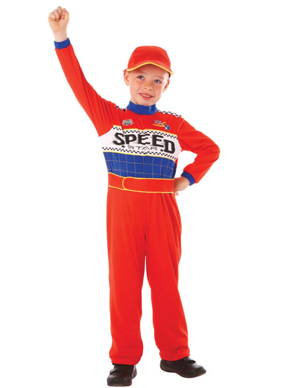 boys nascar race car driver speed racer boys halloween fancy dress costume suit
