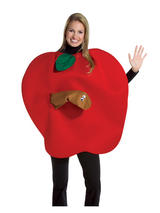 Adult's Apple And Worm Costume