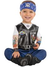 View Item Born To Be Wild Baby Biker Punk Rocker Gang Costume Infant Toddler 0-24 Months
