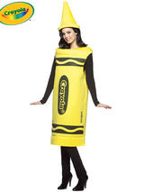 Adult's Yellow Crayola Costume (S/M)