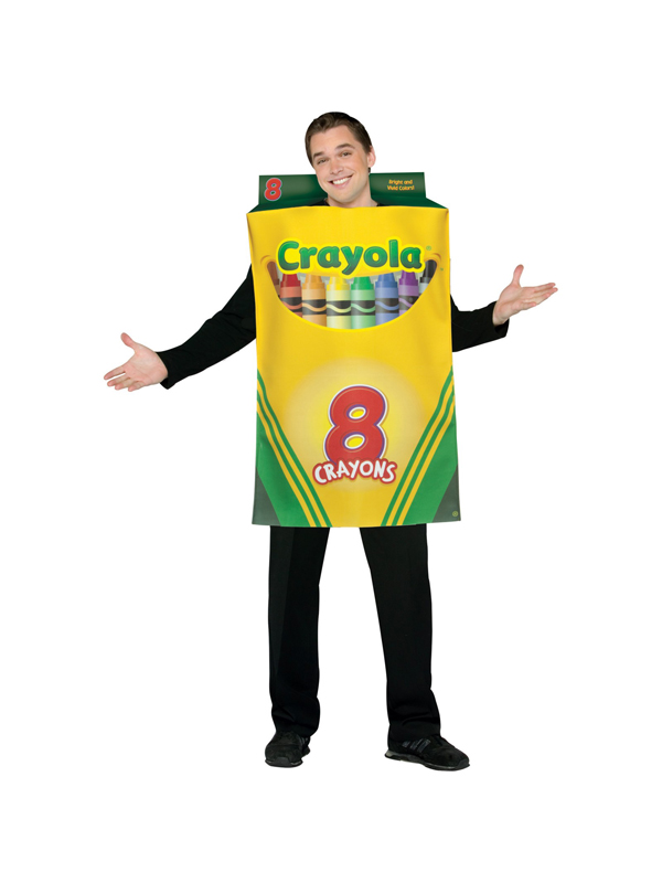 Adult Crayola Box of 8 Crayons Fancy Dress Costume STD