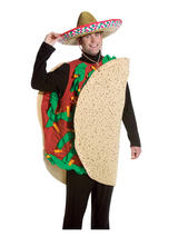 Mens Mexican Taco Funny Food Deluxe Halloween Fancy Dress Adult Costume New