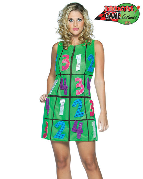 Adult Womans Sudoku Board Game Fancy Dress Humour Funny Costume STD