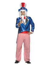 Adult Mens Uncle Sam American Army Advert Fancy Dress Costume Outfit USA New