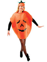 View Item Adult Pumpkin Costume Unisex Halloween Spooky Fancy Dress Outfit Womens Mens New