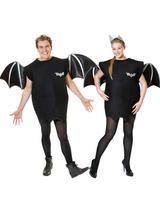 View Item Adult Bat Costume Ladies Mens Wings Fancy Dress Halloween Outfit New Vampire