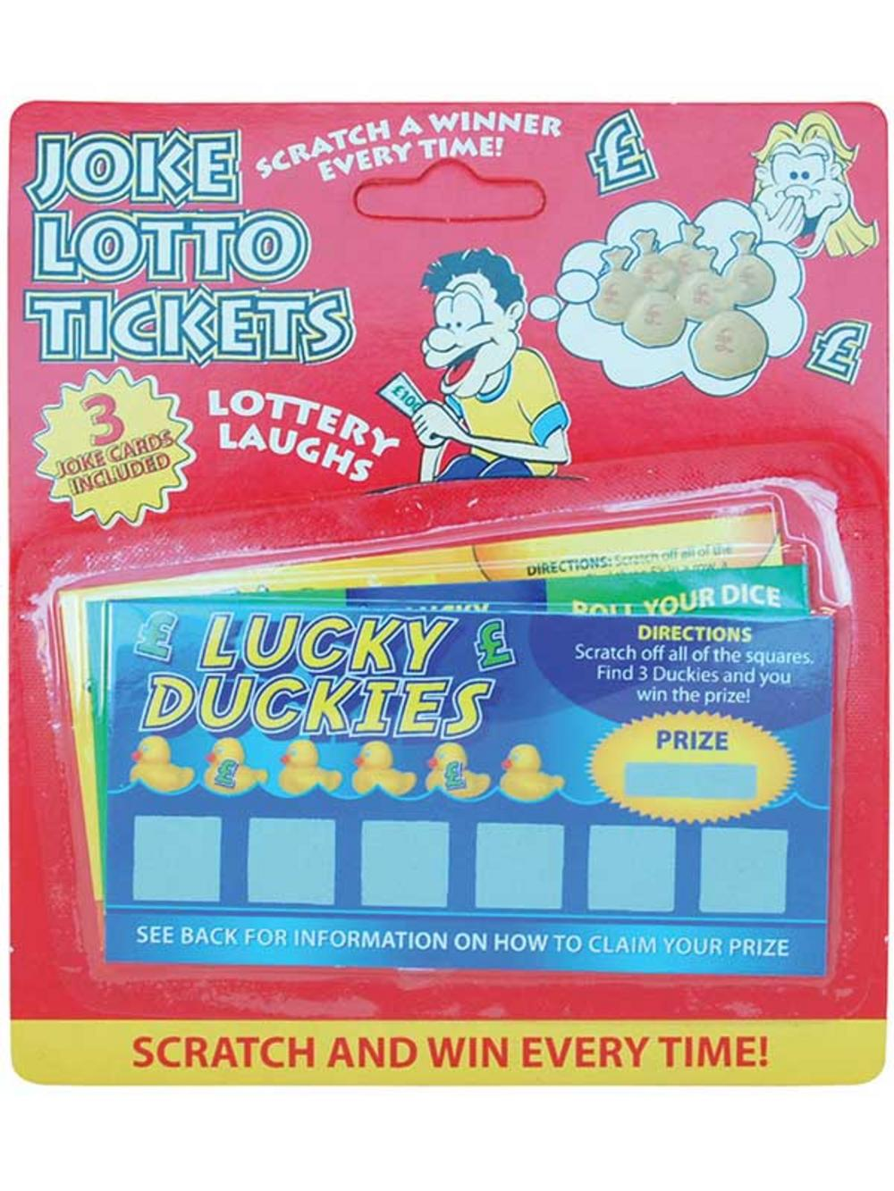 3 Winning Scratch Fake Lotto Lottery Tickets Card Party ...