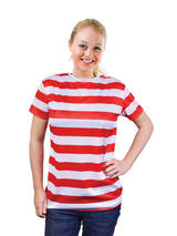 View Item Wally Female Womens Ladies Fancy Dress One Size Nerd Striped Book Week New