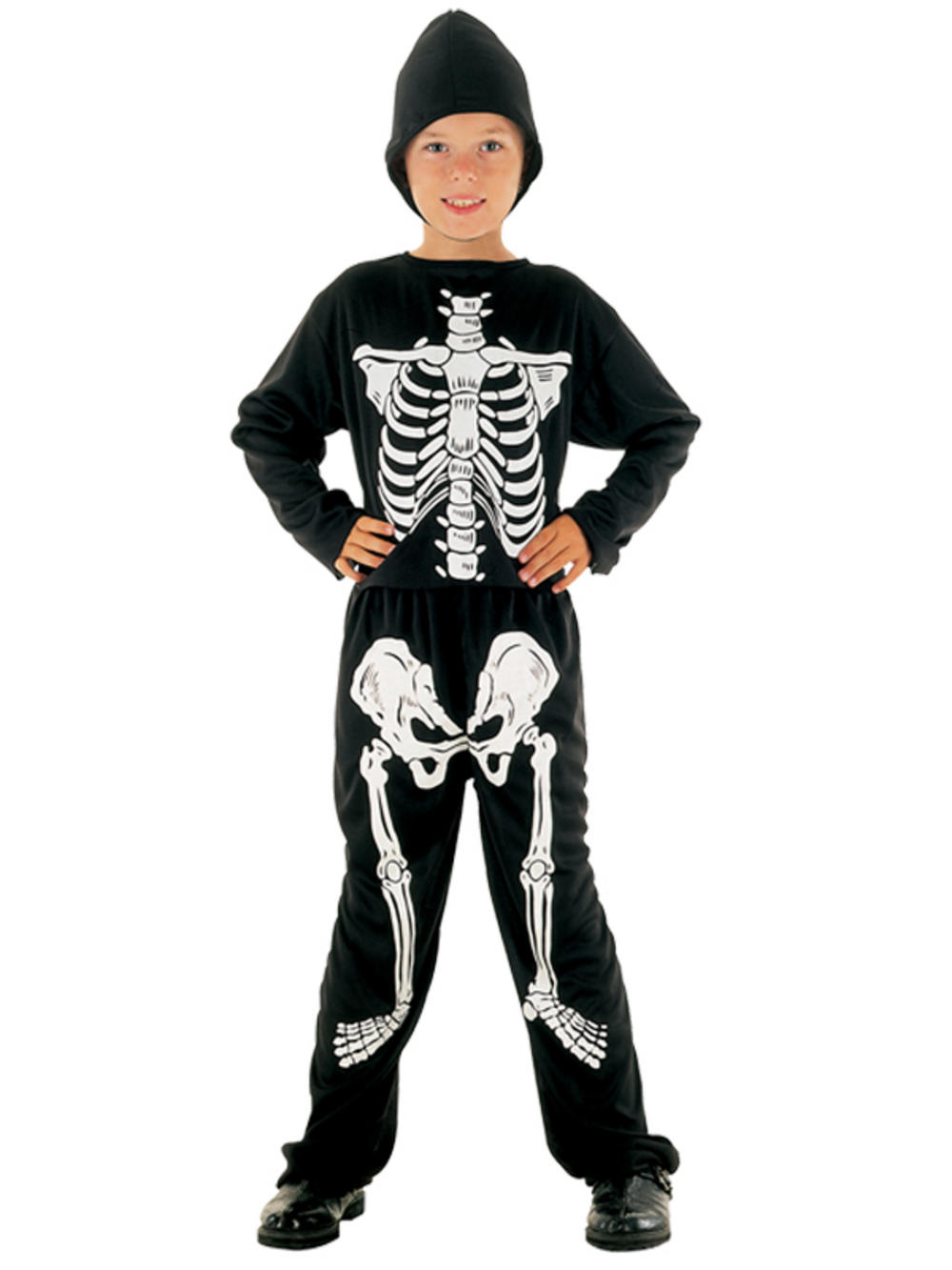 Child Skeleton Onesie Costume Boys Kids Halloween Fancy