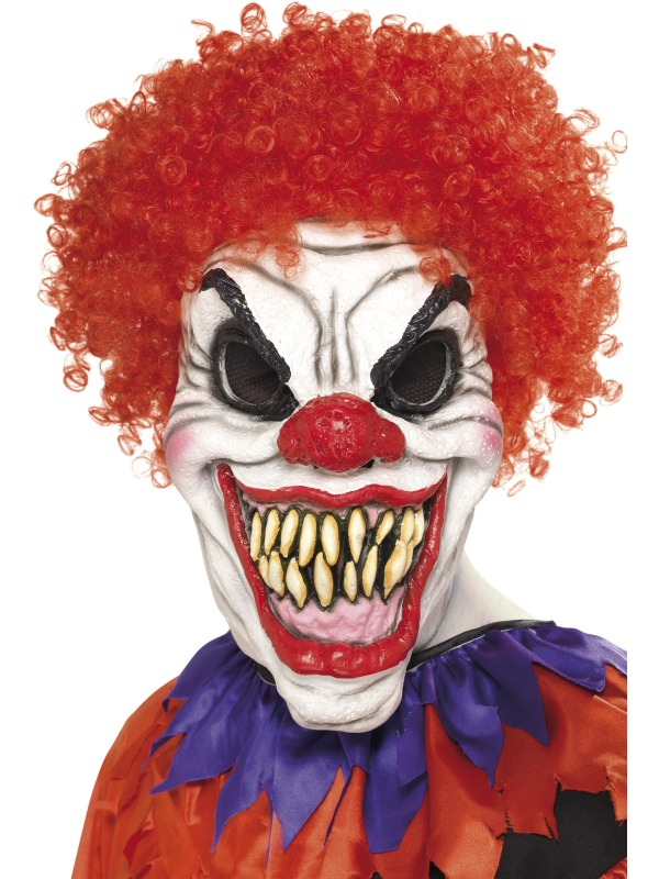 scary clown fancy dress halloween horror mask ebay