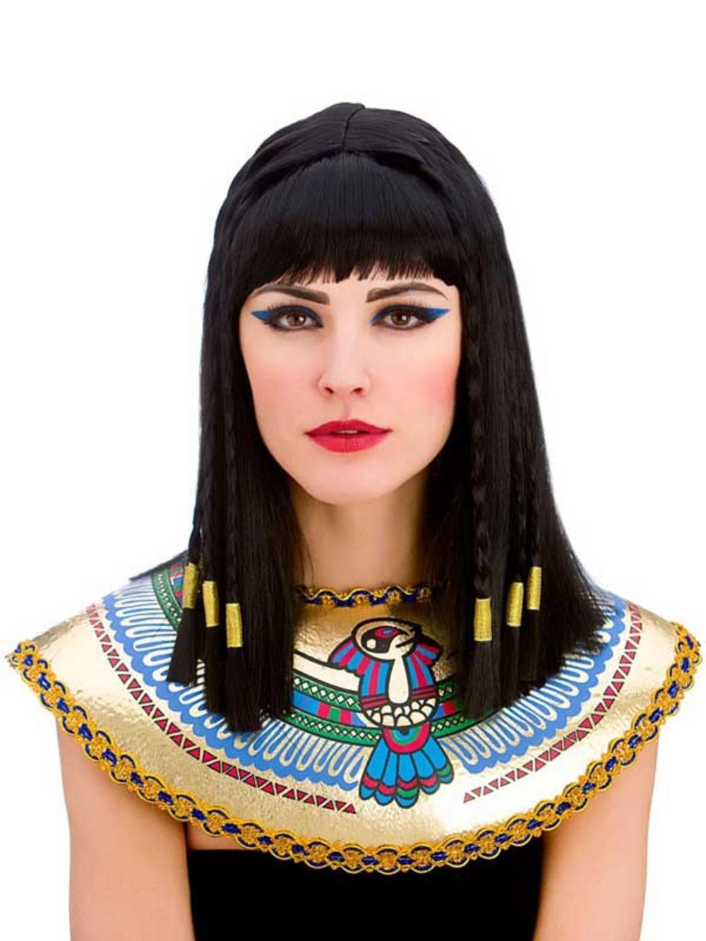 Fine Ladies Long Queen Cleopatra Braids Gold Braided Hair Fancy Dress Short Hairstyles Gunalazisus