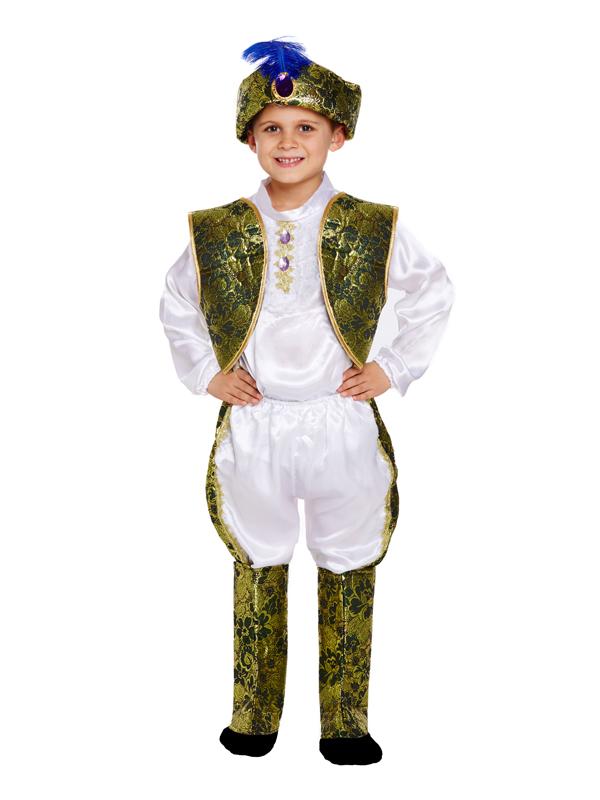 Età 4-12yrs Ragazzi Indiano Bollywood Prince King Costume asiatico Maharaja Costume