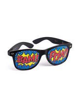 "View Item Fun Accessory New Pop Art ""Pow"" Screened Sunglasses Comic Book Fancy Dress"