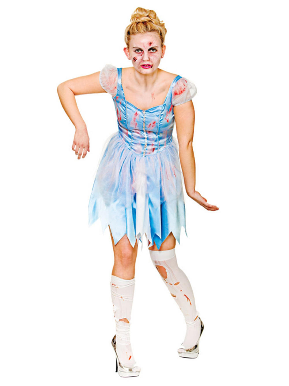 Zombie Cinderella Ladies Fancy Dress Halloween Fairytale