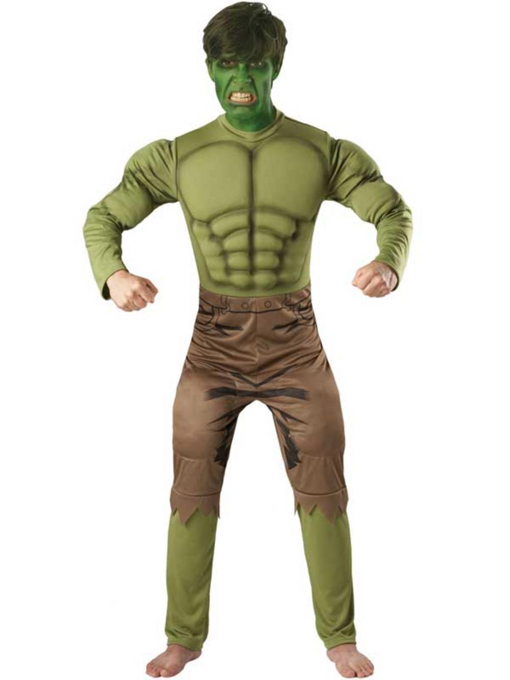 The Incredible Hulk Mens Fancy Dress Avengers Superhero