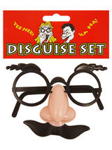 View Item Groucho Marx Disguise Specs Nose Tash & Eyebrow Disguise Set Fancy Dress Glasses