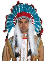 View Item Authentic Look Indian Headdress Fancy Dress Wild West