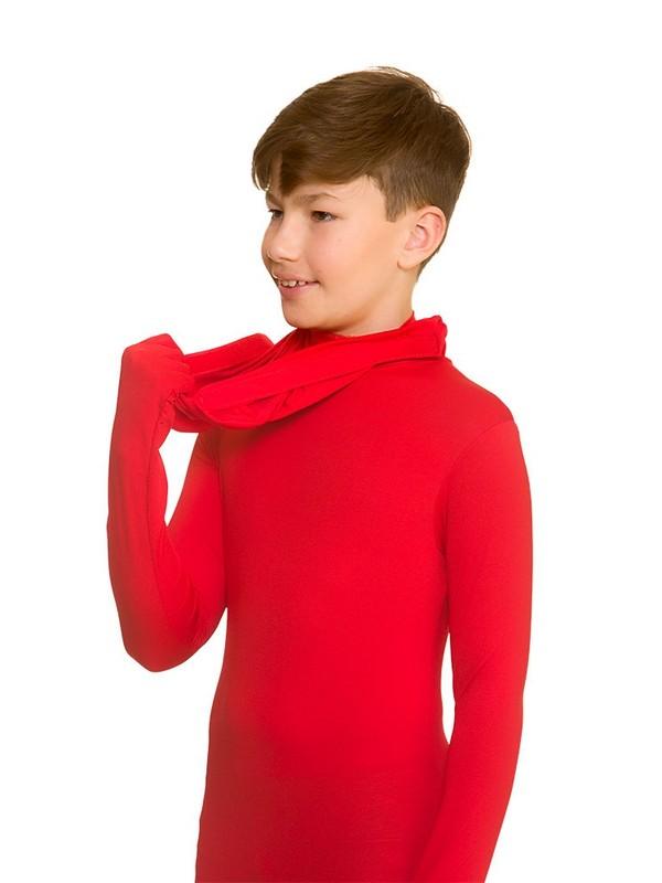 Kids Red Bodysuit Second Skins Lycra Fancy Dress Skinz Costume Halloween Xmas