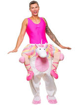 View Item Carry Me Ballet Unicorn Costume Mens Stag Night Fancy Dress Fantasy Fairytale