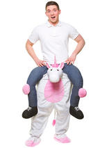 View Item Carry Me White Unicorn Costume Mens Stag Night Fancy Dress Fantasy Fairytale