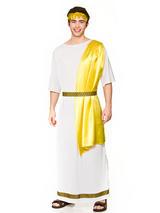 View Item Mens Roman God Ancient Greek Toga Caesar Fancy Dress Costume Grecian Toga 44-48