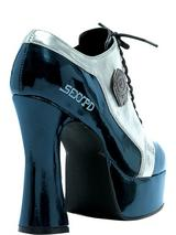 Adult Ladies Blue and Silver Sexy Cop Shoes 6-7