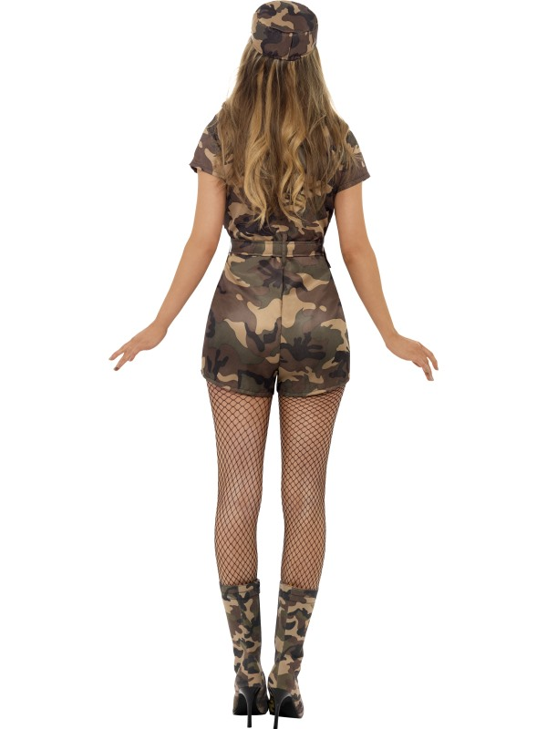 Adult-UK-Size-8-14-Camo-Army-Girl-Soldier-Fancy-Dress-Costume-Sexy-Womens-Ladies
