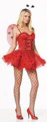View Item Adult Ladies Uk 8-10 Love Bug Lady Bird Fairy Fancy Dress LadyBird Costume