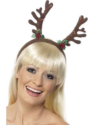 Christmas Flashing Antlers Fancy Dress Novelty Headwear