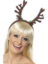 View Item Christmas Flashing Antlers Fancy Dress Novelty Headwear