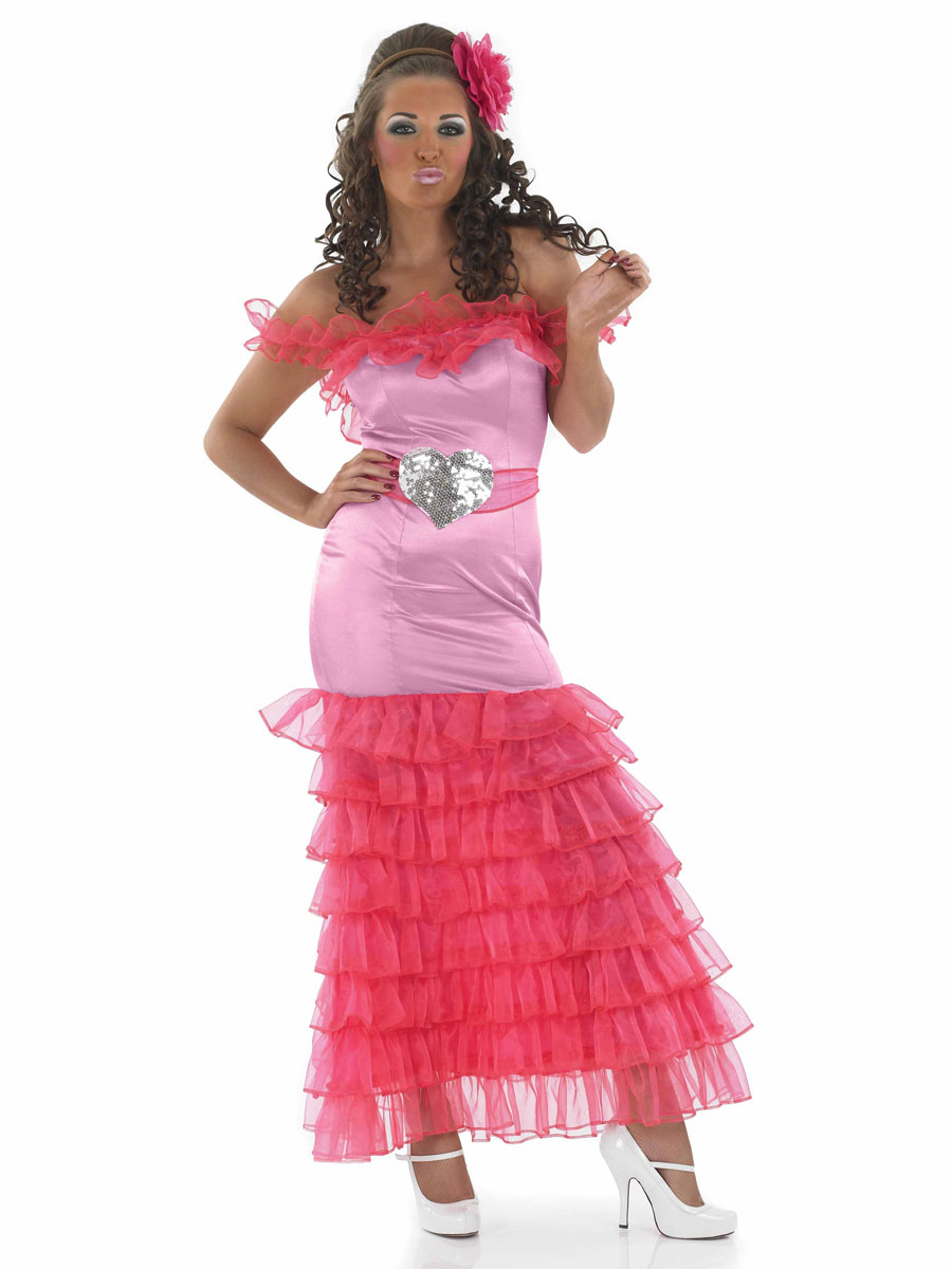 Adult gypsy bridesmaid fancy dress costume sexy wedding for Sexy wedding reception dresses