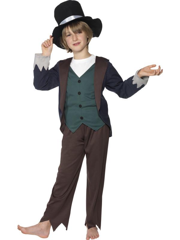 Child-Victorian-Poor-Boy-Fancy-Dress-Costume-Book-Week-Dodger-Urchin-Kids-Boys