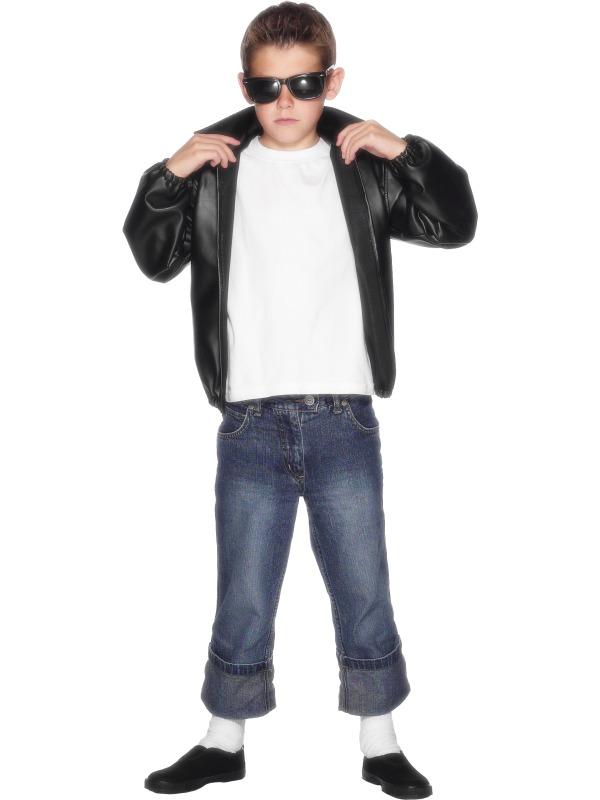 Child-T-Birds-Jacket-Fancy-Dress-Costume-Grease-  sc 1 st  eBay & Child T Birds Jacket Fancy Dress Costume Grease John Travolta 50s ...