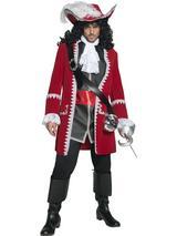 View Item Adult Medium Authentic Pirate Captain Hook Fancy Dress Costume Mens Gents Male