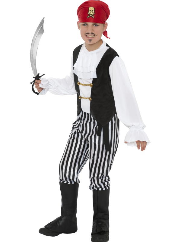 Child-Pirate-Boy-Fancy-Dress-Costume-Deluxe-Caribbean-Book-Week-Jolly-Roger