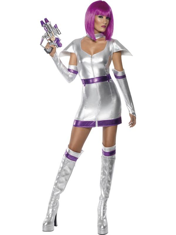 Adult Sexy Space Woman Cadet Alien Fancy Dress Costume ...