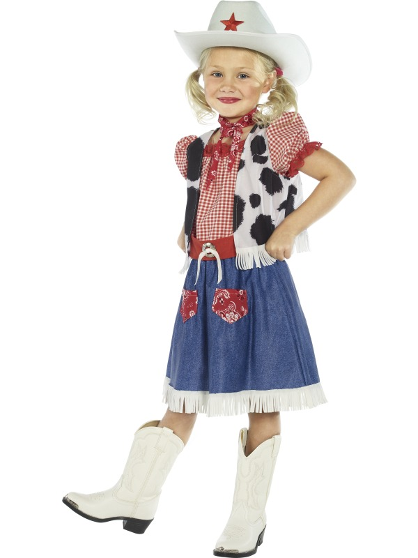 Child-Cowgirl-Sweetie-Fancy-Dress-Costume-Girls-Kids-Outfit-Wild-West-BN