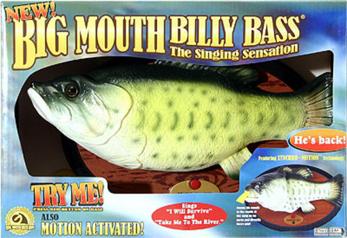 Big mouth billy bass singing fish novelty gift 2 songs buy for Big mouth billy bass singing fish