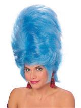 Blue Beehive Wig