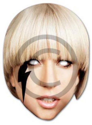 Lady Gaga Face. Lady Gaga Fancy Dress Pop Star